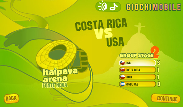 World Cup 2014 Mobile Game